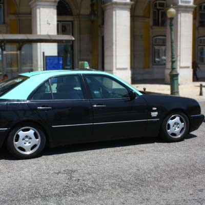 Taxis in Lisbon are often Mercedes Benz
