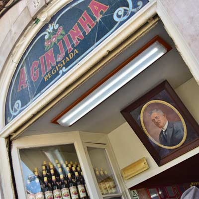 The Ginjinha bar in Baixa