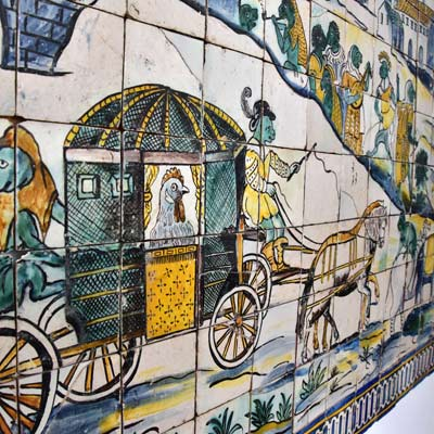 the chickens wedding Azulejo
