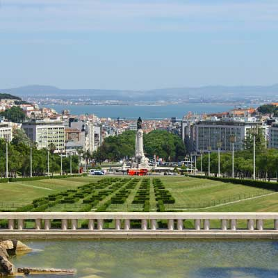 A vista do Miradouro do Parque Eduardo VII lisboa