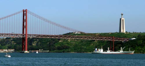 Lisbon suspension bridge