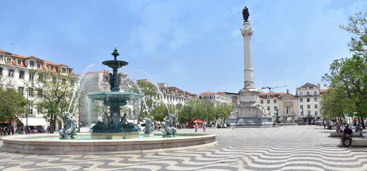 central square of Lisbon