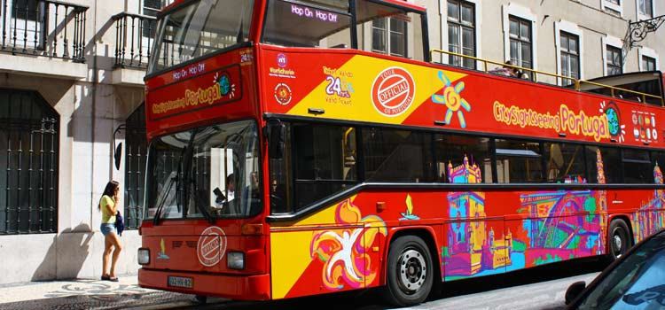 City Sightseeing tour bus lisbon