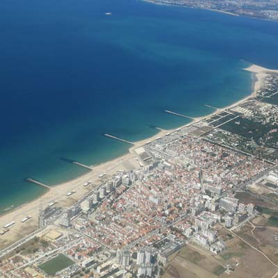 Costa da Caparica  flight airview